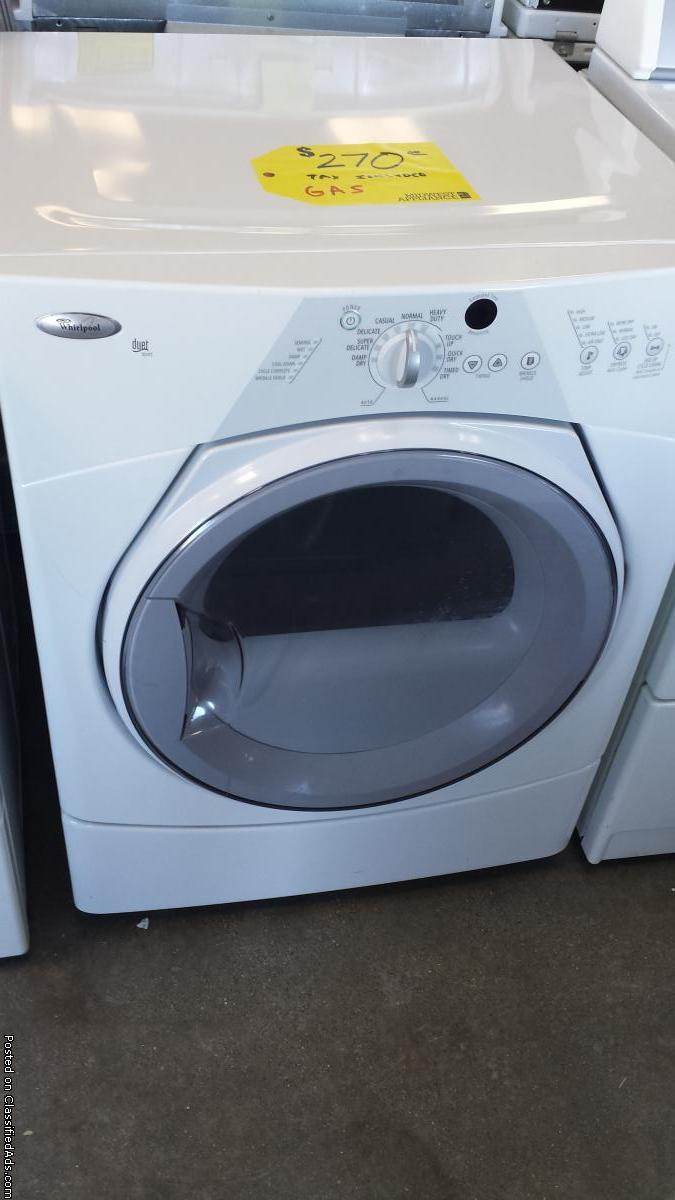 Whirlpool Duet Gas Dryer