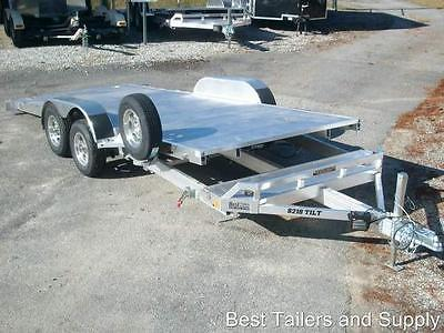 7x18 7k ALUMA 8218T CarHauler Equipment Trailer w spare 2018 aluminum trailer