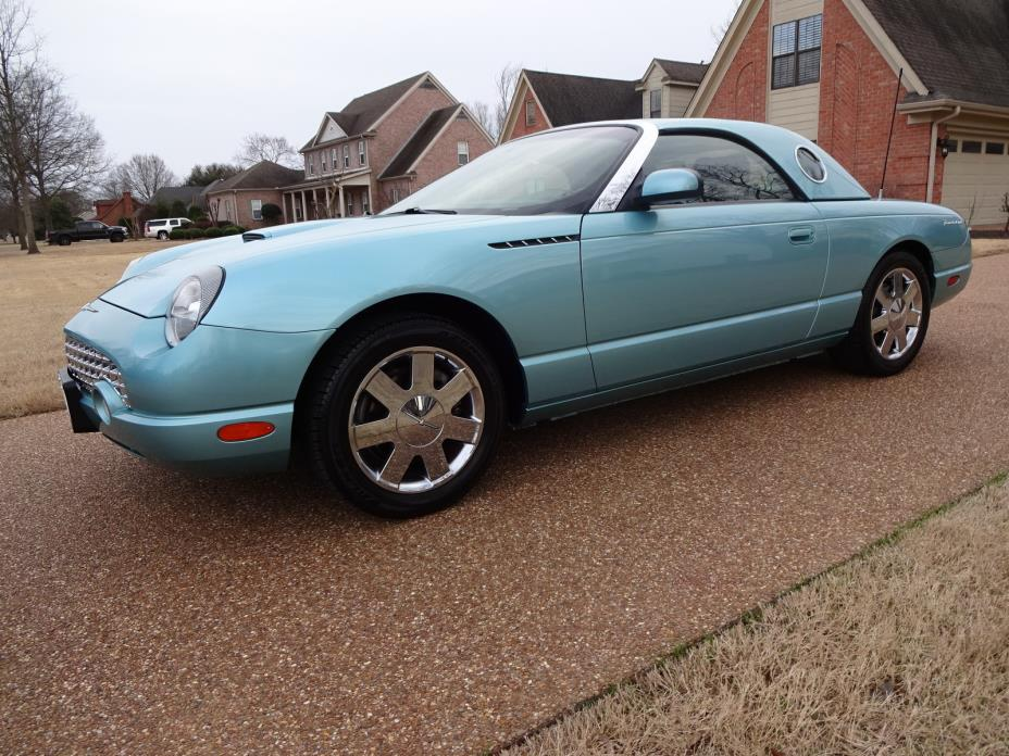 2002 Ford Thunderbird w/Hardtop Premium TENNESSEE 1OWNER, NONSMOKER, 6-DISC CHANGER, ONLY 55K MILES! PERFECT CARFAX!