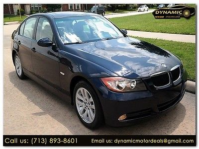 2007 BMW 3-Series 328i 2007 BMW 3 Series 328i 81,950 Miles BLUE 4dr Car Straight 6 Cylinder Engine 3.0L