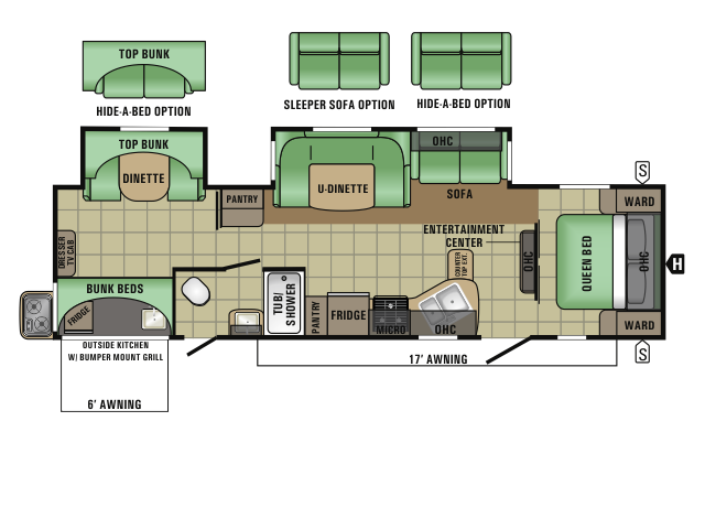 2017 Starcraft RVs AUTUMN RIDGE 329BHU