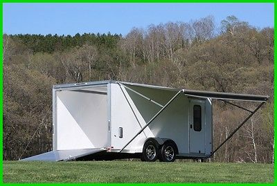 2017 7x16 ALUMINUM ENCLOSED CARGO TOYHAULER TRAILER New