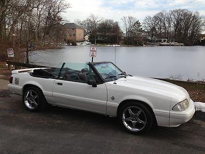 1993 Ford Mustang GT 1993 Ford Mustang GT 52000 Miles WHITE CONV 8 Cylinder Engine 5.0L/302 Automatic