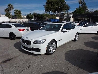 2014 BMW 7-Series *M Sport Package* 2014 BMW 7 Series *M Sport Package* 28061 Miles Alpine White 4D Sedan 3.0L I6 DO