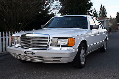 1989 Mercedes-Benz 500-Series SEL 1989 Mercedes-benz 560SEL 73k miles Rare White with Black interior
