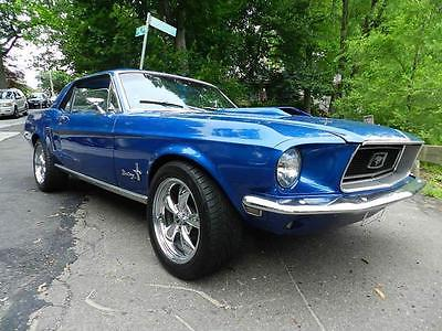1968 Ford Mustang -- 1968 FORD MUSTANG 50000 Miles BLUE COUPE V8 Automatic