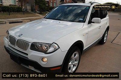 2007 BMW X3 3.0si 2007 BMW X3 3.0si 96,550 Miles WHITE Sport Utility 3.0 Automatic