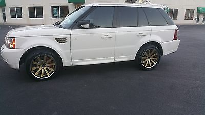2009 Land Rover Range Rover Sport Supercharged 09 Range rover sport supercharged sc 91k white with gold rims DVD fully loaded