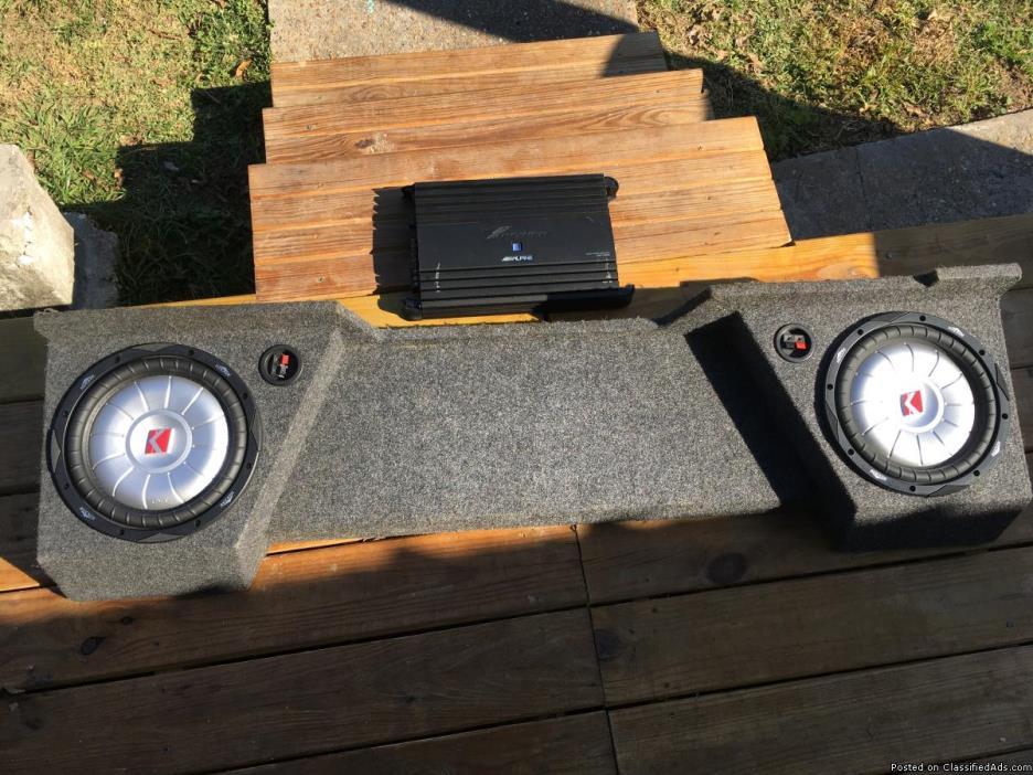 10 inch kicker speakers in pro box