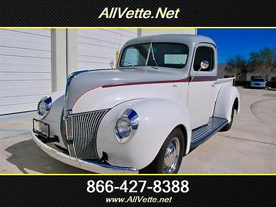 1940 Ford Other White Silver/ Silver, Frame-Off Restored,302 Auto,Air Cond,PS, PDB,PW,Coil Overs