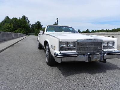 1984 Cadillac Eldorado Biarritz 1984 Cadillac Eldorado Biarritz 72000 Miles WHITE Convertible 2DR 8 Cylinder Eng