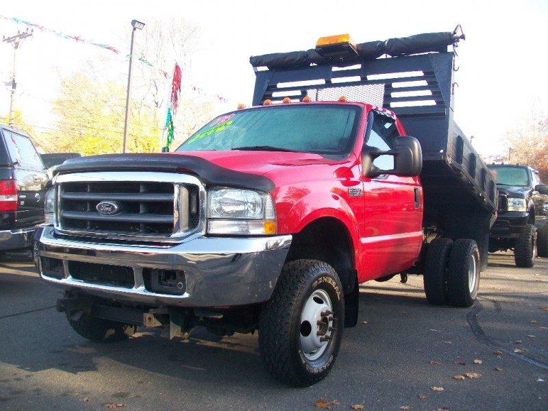 2002 Ford Super Duty F-350 DRW Reg Cab XLT 4WD Flat Bed Dump 6 Speed Manual 7.3 Liter Power Stroke T