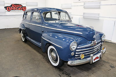 1947 Ford Sedan Runs Drives Body Int VGood 3.9LV8 3spd man 1947 Blue Runs Drives Body Int VGood 3.9LV8 3spd man!