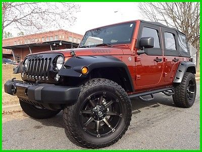 2014 Jeep Wrangler ONE OWNER CLEAN CARFAX WE FINANCE TRADES WELCOME 3.6L V6 MANUAL SOFT TOP HALF DOORS COPPERHEAD TOUCHSCREEN JL AUDIO LIFT FUEL BT
