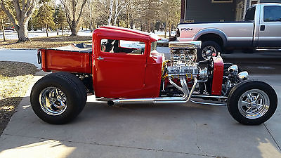 1931 Ford Model A custom 1931 ford model A custom pro street rod sbc tunnel ram chopped chop channeled