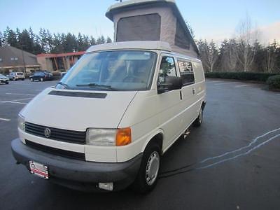 1995 Volkswagen EuroVan Campmobile -- 1995 Volkswagen EuroVan Campmobile  Arctic White  2L NA I5 single overhead cam (