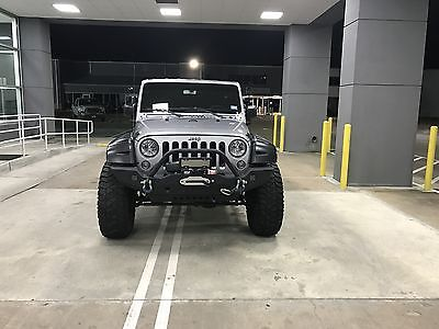 2015 Jeep Wrangler Unlimited Sport 24S 2015 Jeep Wrangler Unlimited Sport 24S Billet Silver 3.5 inch lift w/ 37 in Tire