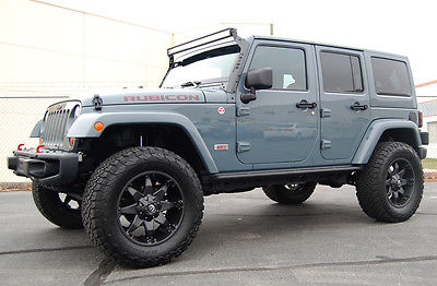 2013 Jeep Wrangler Unlimited Rubicon Sport Utility 4-Door 2013 Jeep Wrangler Unlimited Rubicon 10th anniversary Anvil Gray LOW MILES!!