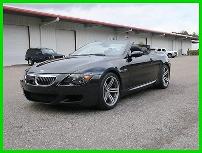 2007 BMW M6 CONVERTIBLE JUST SERVICED ALL OPTS RUNS DRIVES GR8 2007 BMW M6 CONVERTIBLE SMG NAV LOGIC7 SND SAT HEATED LTHR XENON NEW TIRES SHARP