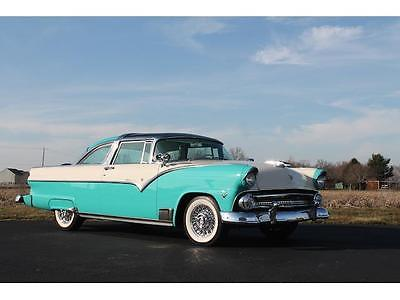 1955 Ford Crown Victoria -- 1955 Ford Crwon Victoria 11,640 Miles Seaspirit green/White Coupe 272 CU-IN V8