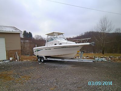 251 WA Proline Boat 1997 with 225hp Johnson and 2014  dual axle trailer