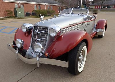 1936 Cord BOAT TAIL SPEEDSTER -- 1936 AUBURN BOAT TAIL SPEEDSTER 13,639 Miles SILVER/BURGANDY 406 C.I. Automati