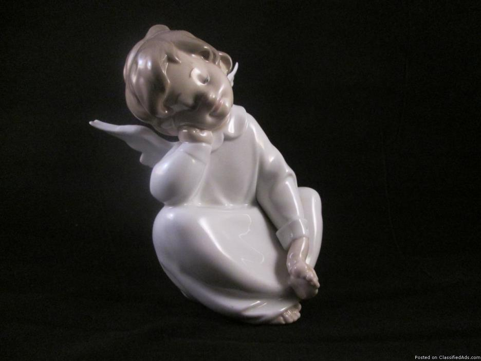 Lladro Cherub Angel Dreaming 4961 Figurine 6