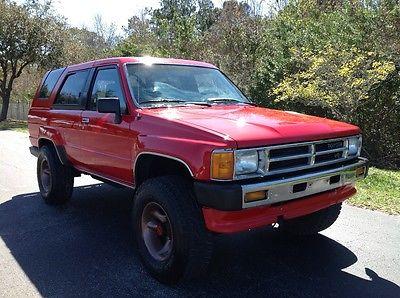 1988 Toyota 4Runner SR5 1988 TOYOTA 4RUNNER SR5 V6 4X4 5 SPEED 1 OWNER