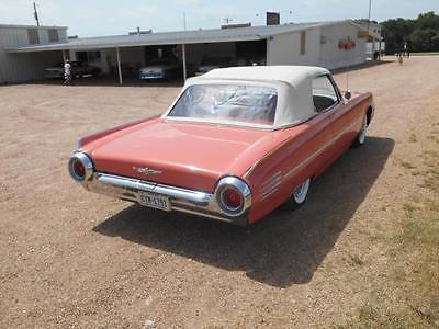 1961 Ford Thunderbird -- 1961 Ford Thunderbird convertable rare salmon color low milage