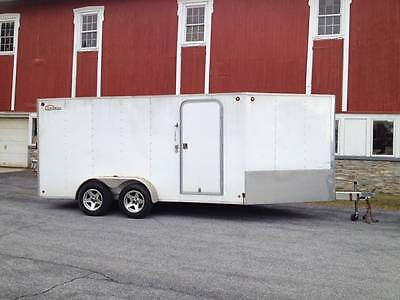 Legend Aluminum Enclosed Inline Snowmobile Trailer 3 place