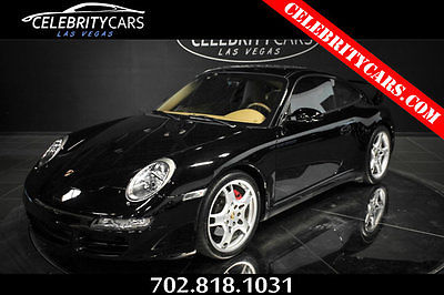 2006 Porsche 911 Carrera 4S 2006 Porsche 911 C4S Coupe Black CLEAN Carfax low miles Serviced Las Vegas !!