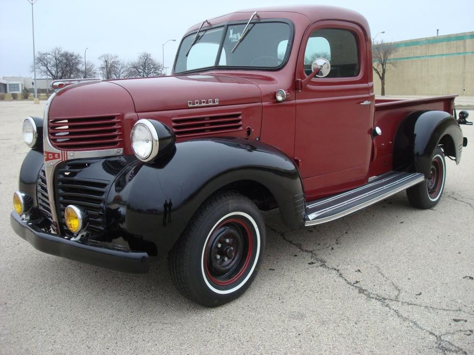1946 Dodge Other Pickups D11 pickup stepside shorted 1946 Dodge pickup stepwise wood bed 6cyl manual 4 speed restored