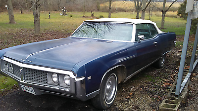 1969 Buick Electra Blue with white top 1969 Buick Electra 225 - 2 door convertible -