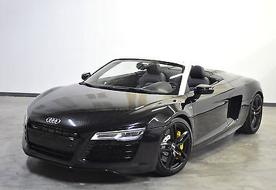 2014 Audi R8 Spyder Convertible 2-Door 2014 Audi R8 V10 Spyder* Extremely Rare 6 Speed Manual*Triple Black* Nav*Loaded*