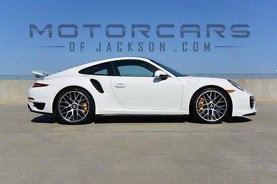 2014 Porsche 911 Turbo S 14 Porsche Turbo S BONE STOCK 4k miles 2016 17 15 White Espresso PDK Entry Drive