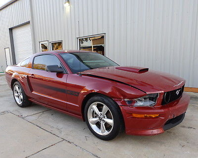 2009 Ford Mustang GT Coupe 2-Door California Special, 52,433 alvage Rebuildable, 4.6L V8, 5-Speed, Two-Tone Leather Seats