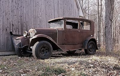1931 Ford Model A  1931 Ford Model A Tudor sedan rat rod hot rod project car. Ratrod Hotrod