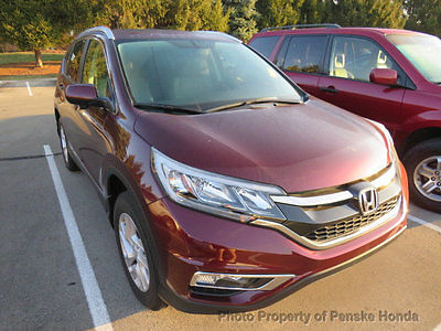 2015 Honda CR-V AWD 5dr EX-L AWD 5dr EX-L Low Miles 4 dr SUV CVT Gasoline 4 Cyl Basque Red Pearl II