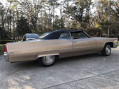 1969 Cadillac DeVille Base Convertible 2-Door 1969 Cadillac DeVille Base Convertible 2-Door 7.7L