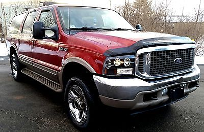 2001 Ford Excursion limited Gorgeous Ford Excursion Limited V10 20's DVD Halo Angel Eyes, Clean Title