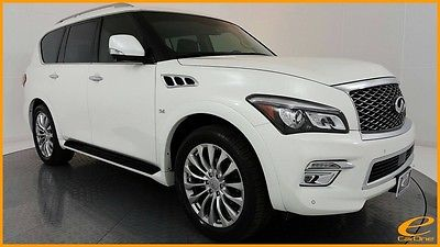 2015 Infiniti QX80 | DRVR ASST | REAR DVD | NAV | ACTV CRUISE | 22IN Majestic White Infiniti QX80 with 32,753 Miles available now!