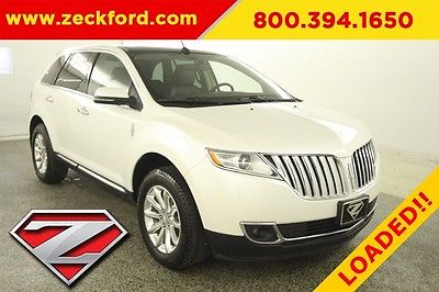 2015 Lincoln MKX Elite All Wheel Drive 3.7L V6 Automatic AWD Pano Moonroof Leather Heated Seats Navigation Tow Pack