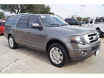 2013 Ford Expedition Limited 2013 Ford Expedition EL Limited Sterling Gray 4D Sport Utility 5.4L V8 SOHC 24V