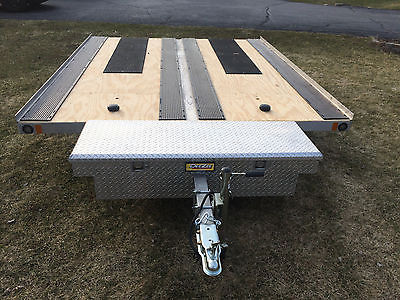 Aluminum Open Snowmobile Trailer - Utility/ATV Tilt 2 Place - New Deck, LEDs....