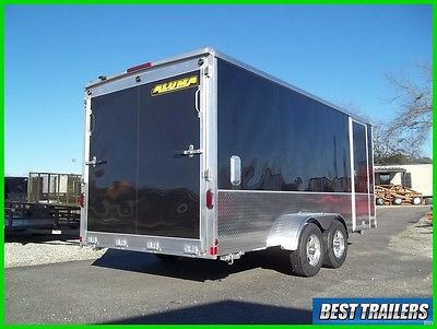 2018 Aluma AE716TAM cargo enclosed aluminum trailer 7x16 motorcycle w extra high