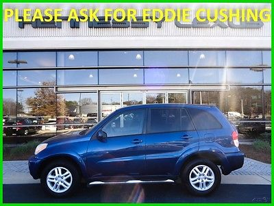 2003 Toyota RAV4 Base Sport Utility 4-Door 2003 RAV4 2L I4 16V Automatic FWD SUV Power Windows Cruise Control Serviced