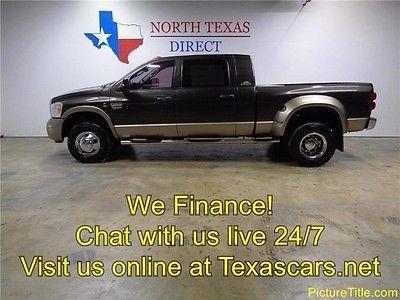 2008 Dodge Ram 3500  08 Ram 3500 Laramie Resistol 4x4 Diesel Leather Heated Seat We Finance Texas