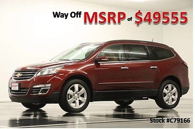 2017 Chevrolet Traverse MSRP$49555 AWD Premier Sunroof DVD GPS Siren Red New Navigation Heated Cooled Saddle Leather Captains 16 2016 17 Camera Bose