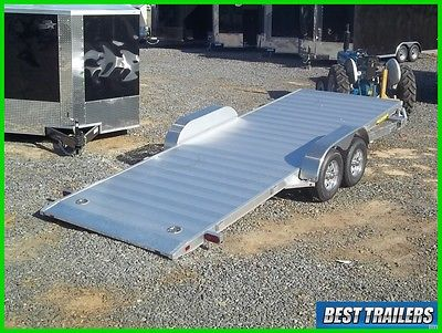 2018 aluma 8220 HT gravity tilt equipment carhauler trailer aluminum w spare