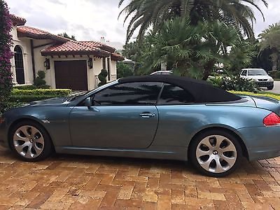 2006 BMW 6-Series beautiful Atlantic Blue Convertible - rare color in excellent confition!!!
